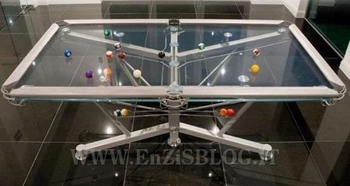 Biliardo di cristallo by nottage design home inutility fashion design enzis blog - Dimensioni tavolo biliardo casa ...