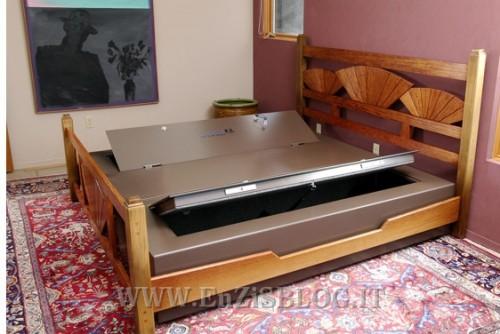 concealed bed 500x334 Bedbunker, il letto con la cassaforte dentro