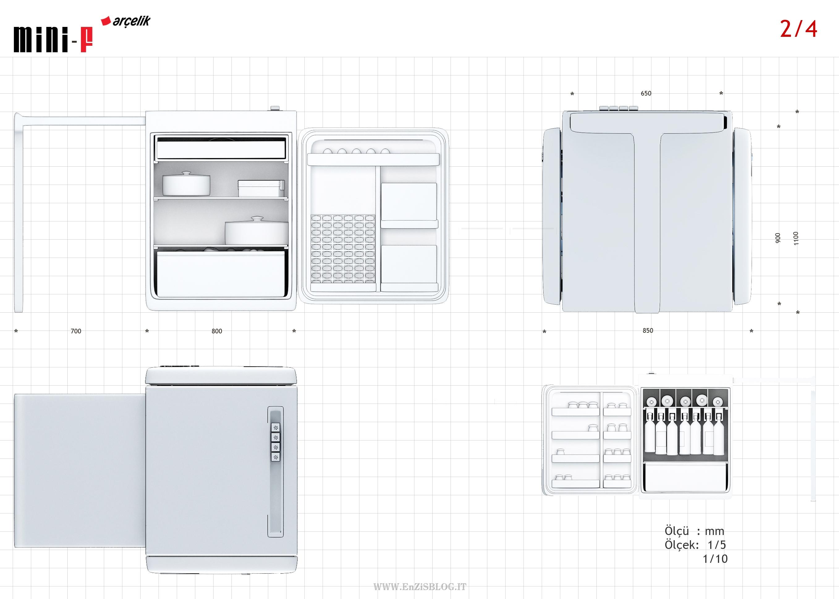 Mini-F, mini fridge for singles   Inutility Home & Fashion Design ...
