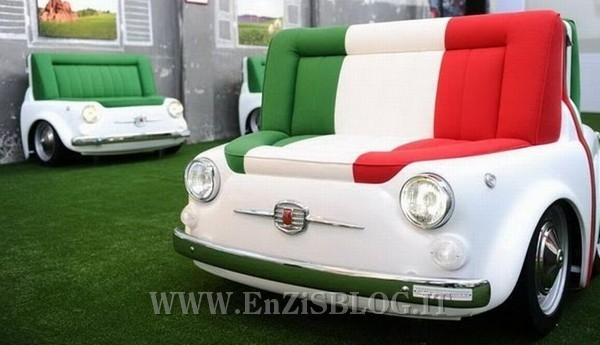 Arredamento ispirato alla mitica fiat 500 home inutility - Fiat 500 divano ...