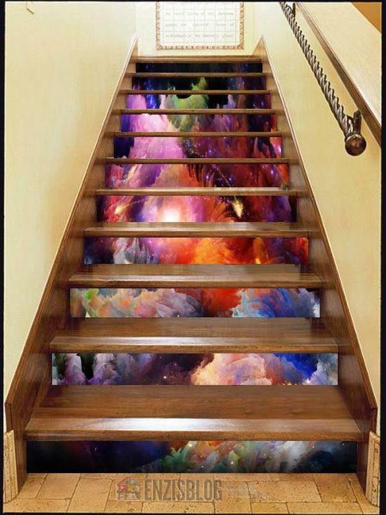 Adesivi-scale-02 Adesivi murali per le scale e salirle sarà più leggero