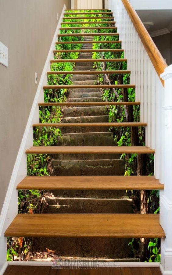Adesivi-scale-05 Adesivi murali per le scale e salirle sarà più leggero