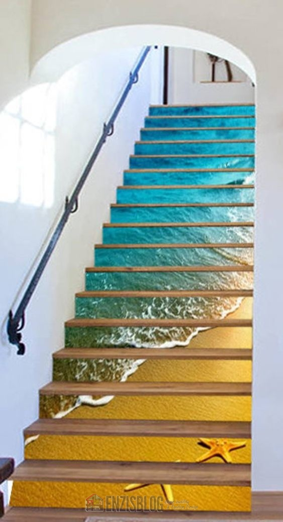 Adesivi-scale-06 Adesivi murali per le scale e salirle sarà più leggero