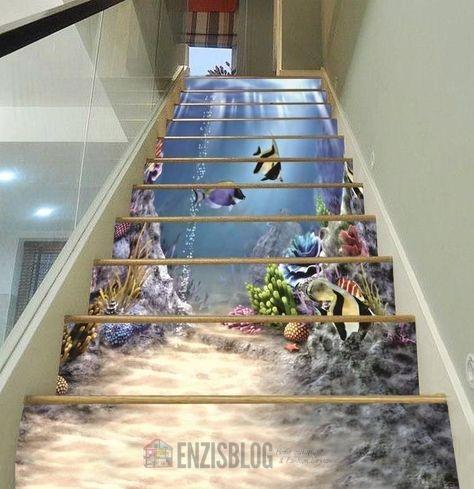 Adesivi-scale-09 Adesivi murali per le scale e salirle sarà più leggero