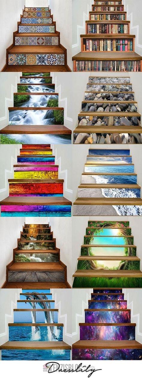 Adesivi-scale-10 Adesivi murali per le scale e salirle sarà più leggero