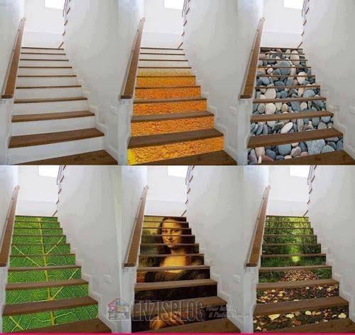 Adesivi-scale-11 Adesivi murali per le scale e salirle sarà più leggero